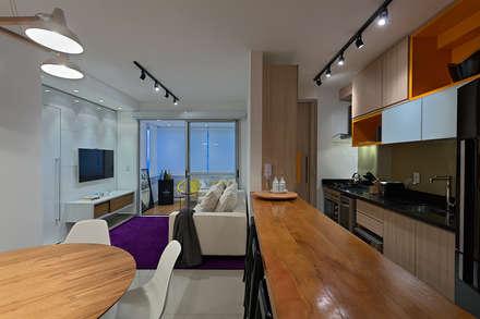 AP PR1604: Cozinhas minimalistas por Lucas Lage Arquitetura