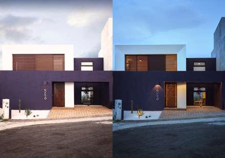 DÍA Y NOCHE: Casas de estilo minimalista por Región 4 Arquitectura