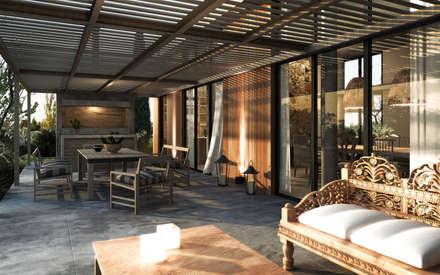 Galería Exterior Expansión de Interiores: Casas de estilo moderno por Estudio JP