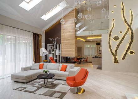 Геометрия комфорта (Дом в г.Светлогорск, Калининградская область): Гостиная в . Автор – Asiya Orlova Interior Design