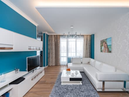 Двухкомнатная квартира. Дизайн интерьера  г.Калининград: Гостиная в . Автор – Asiya Orlova Interior Design