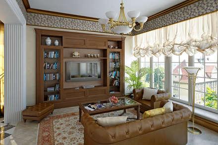 Living room in Art Deco style.: Гостиная в . Автор – Design studio of Stanislav Orekhov. ARCHITECTURE / INTERIOR DESIGN / VISUALIZATION.