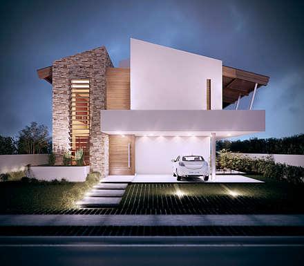 tropische Häuser von Martins Lucena Arquitetos