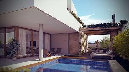 Piscinas de estilo  por Martins Lucena Arquitetos