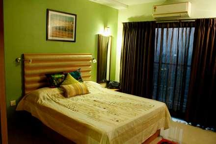Residence at Raheja, Powai: asian Bedroom by JRarchitects
