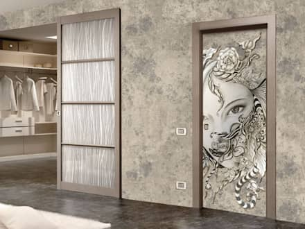"""""""Solo_io"""" dalla collezione """"ecco_la_betty"""", Elisabetta Franceschini per PIXIE progetti & prodotti.: Finestre in stile  di PIXIE progetti e prodotti"""