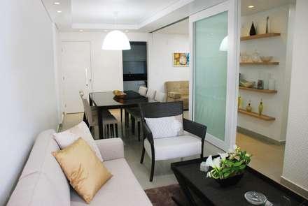 Apartamento MC: Salas de estar modernas por Martins Lucena Arquitetura