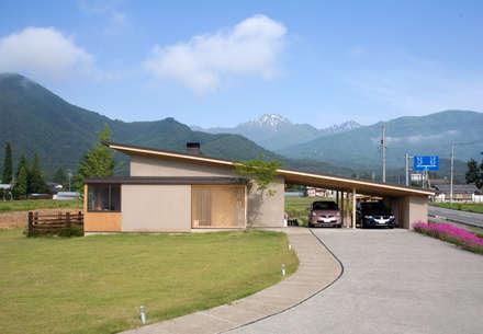 安曇野の平屋の家: 尾日向辰文建築設計事務所が手掛けた家です。