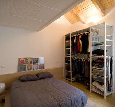 CASA LS: Dormitorios de estilo minimalista de daniel rojas berzosa. arquitecto