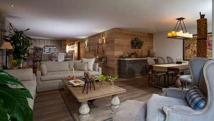 mediterranean Living room by JR Arquitectos