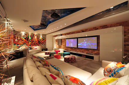 modern Media room by ANNA MAYA & ANDERSON SCHUSSLER
