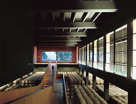 Bodegas Campo Viejo - Bodegas Juan Alcorta. Nave de crianza en barricas.: Bodegas de estilo minimalista de Ignacio Quemada Arquitectos