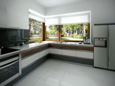 Wnętrze projektu Jaspis 6: styl , w kategorii Kuchnia zaprojektowany przez BIURO PROJEKTOWE MTM STYL