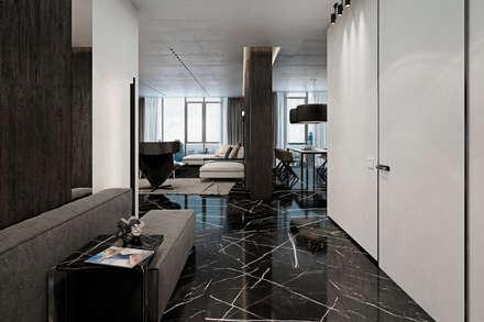 Apartment in Kiev. Ukraine: Коридор и прихожая в . Автор – Diff.Studio