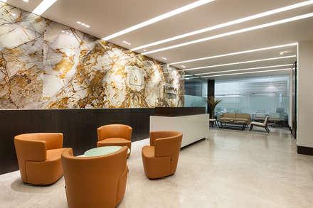 Oficinas Corporativas - Home Office: Paredes de estilo  por Ofis Design