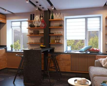 Дизайн интерьера 2-ком. квартиры в Днепропетровске: Кухни в . Автор – GP-ARCH