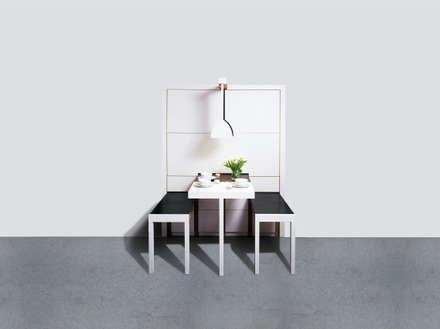 compact kitchen _ Kompaktküche auf 4qm:  Hotels von Produkt Design Leipzig