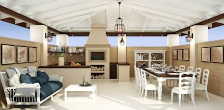 Летняя кухня: Tерраса в . Автор – Rash_studio