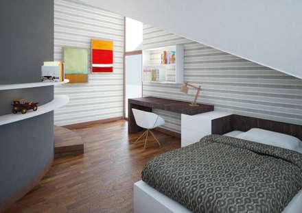 Restyling villa: Camera da letto in stile in stile Moderno di Architetto Alboini Maria Gabriella