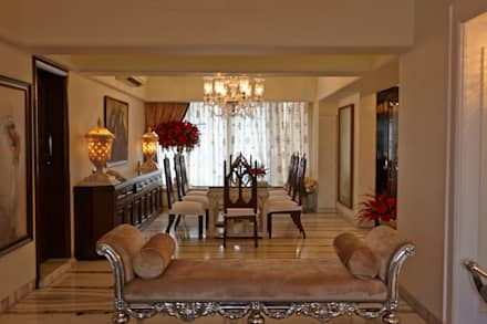 Luxurious Living: classic Dining room by Interface