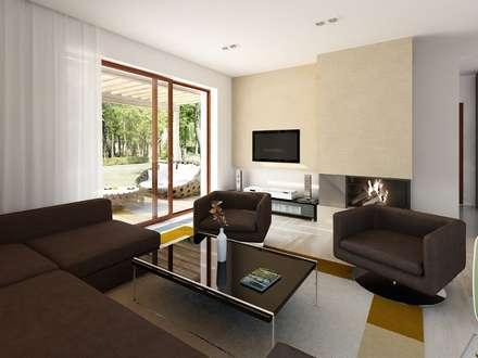 Wnętrze projektu Indygo 4: styl , w kategorii Salon zaprojektowany przez Biuro Projektów MTM Styl - domywstylu.pl