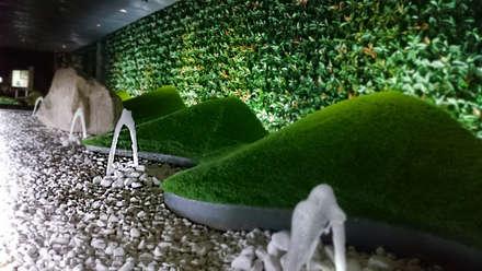 Detalle de terminación de dunas y fuentes: Jardines de estilo moderno de [ interitect ]