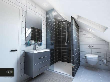 Villa à Bagneux (92): Salle de bain de style de style Moderne par atelier AMEG