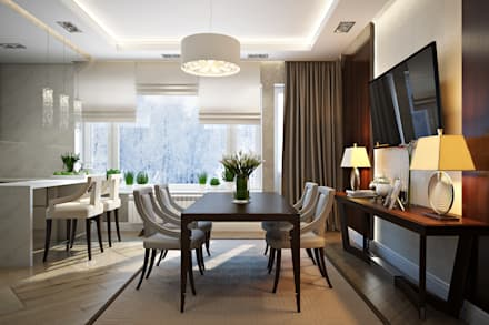 Таунхаус в г.Краснодар: Столовые комнаты в . Автор – Design Studio Details