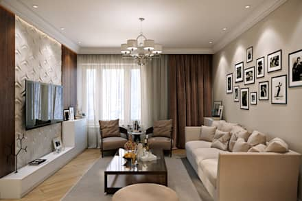 Таунхаус в г.Краснодар: Гостиная в . Автор – Design Studio Details