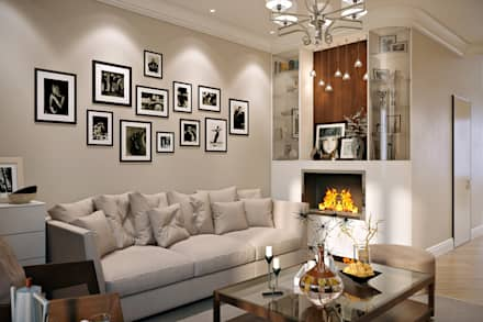 eclectic Living room by Design Studio Details