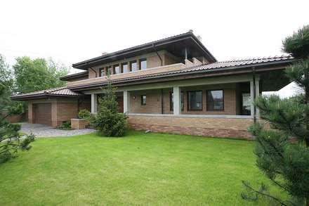 Realizacja projektu Bursztyn: styl nowoczesne, w kategorii Domy zaprojektowany przez Biuro Projektów MTM Styl - domywstylu.pl