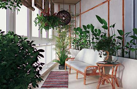 modern Conservatory by студия дизайна 'Крендель'