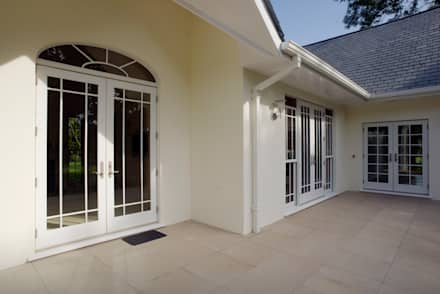 French Doors Combined with Sash Windows:  Windows  by Marvin Architectural