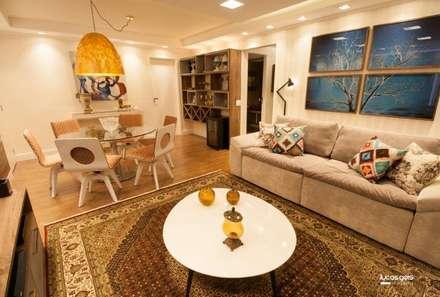 Apartamento: Salas de estar modernas por Artenova Interiores