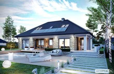 Projekt domu Magnus II G2: styl nowoczesne, w kategorii Domy zaprojektowany przez Pracownia Projektowa ARCHIPELAG