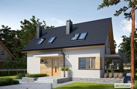 Projekt domu Lila ECONOMIC : styl nowoczesne, w kategorii Domy zaprojektowany przez Pracownia Projektowa ARCHIPELAG