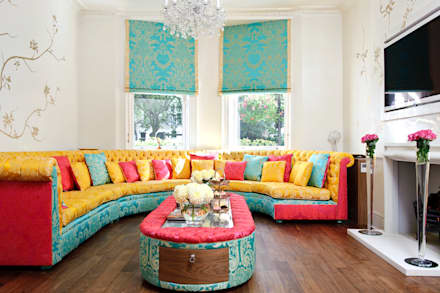 Montagu Square: classic Living room by Rebecca James Studio