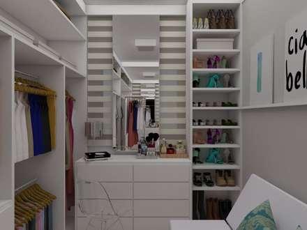 APARTAMENTO FEMININO: Closets modernos por UNUM - ARQUITETURA E ENGENHARIA