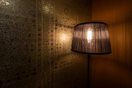 Oriental Wallcover: aziatische Slaapkamer door Medie Interieurarchitectuur