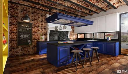 Эксклюзивный дизайн-проект дома в стиле эклектика: Кухни в . Автор – GM-interior