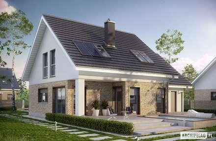 Projekt domu Pedro G1 ENERGO : styl nowoczesne, w kategorii Domy zaprojektowany przez Pracownia Projektowa ARCHIPELAG