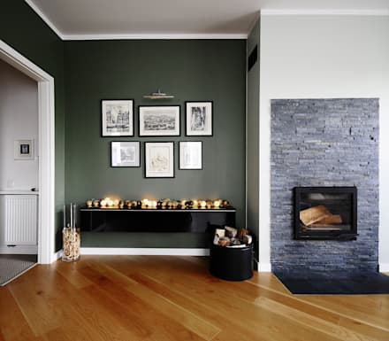 Mieszkanie? Naturalnie! - salon: styl , w kategorii Salon zaprojektowany przez IDeALS | interior design and living store