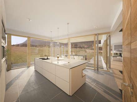 HAUS IN MAIERSDORF: minimalistische Küche von AL ARCHITEKT