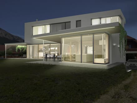 HAUS IN MAIERSDORF: moderne Häuser von AL ARCHITEKT