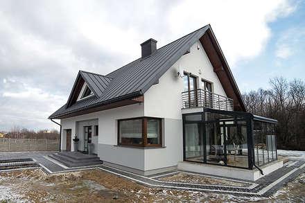 Realizacja projektu Meteor 2: styl nowoczesne, w kategorii Domy zaprojektowany przez Biuro Projektów MTM Styl - domywstylu.pl