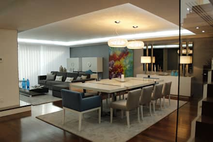 modern Dining room by HC Interiores