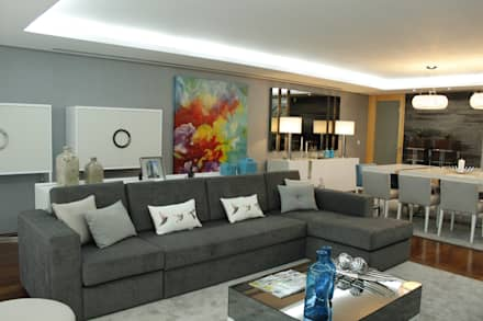 Home sweet home: Salas de estar modernas por HC Interiores
