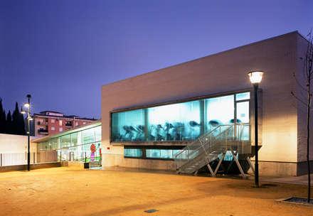 Centro deportivo en Alcalá la Real, Jaén: Gimnasios domésticos de estilo moderno de Herrero/Arquitectos