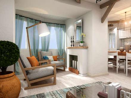 mediterranean Living room by Студия дизайна 'New Art'