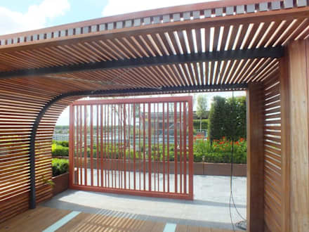 Chelsea Creek London Penthouse Roof Terrace (St George PLC):  Commercial Spaces by Aralia